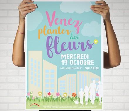 VENEZ PLANTER DES FLEURS